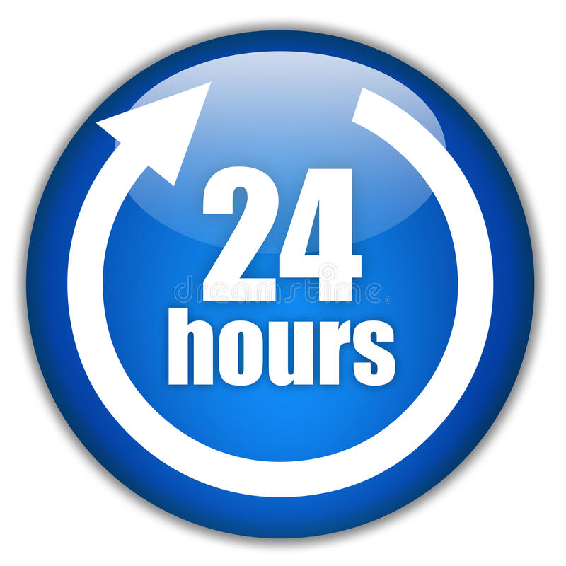 godzina 24 usługa royalty ilustracja
