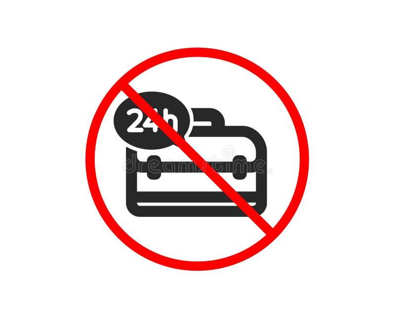 24 godzina ikony usługa Poparcie pomocy znak wektor ilustracji