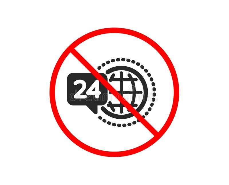 24 godzina ikony us?uga Wywo?awczy poparcie znak wektor ilustracja wektor