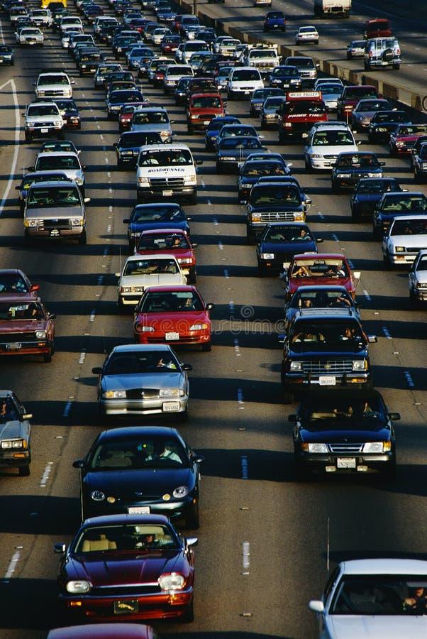 Godzina Szczytu Ruch drogowy, Los Angeles, CA zdjęcie royalty free