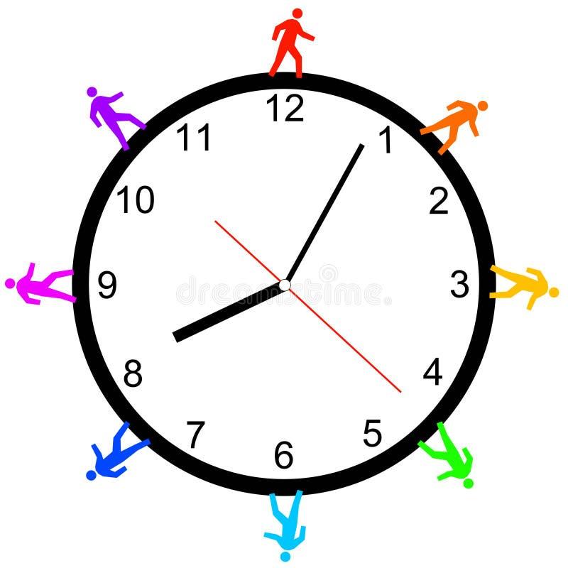 godzina target2232_1_ royalty ilustracja