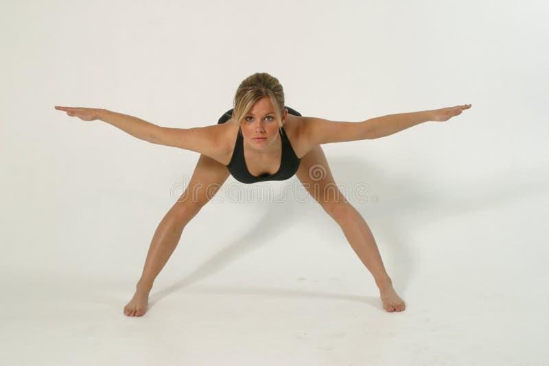 godziny 1 fizycznej fitness model zdjęcie stock