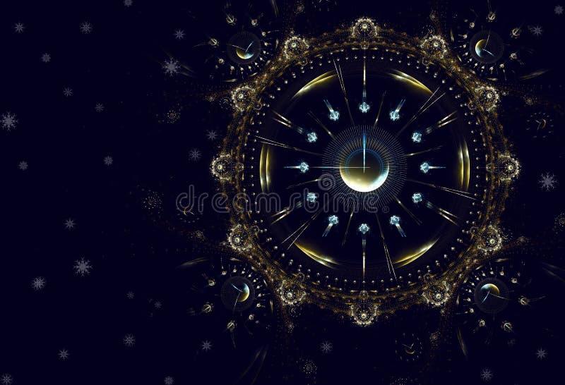 Godziny, czas, życie, nowy rok ilustracji