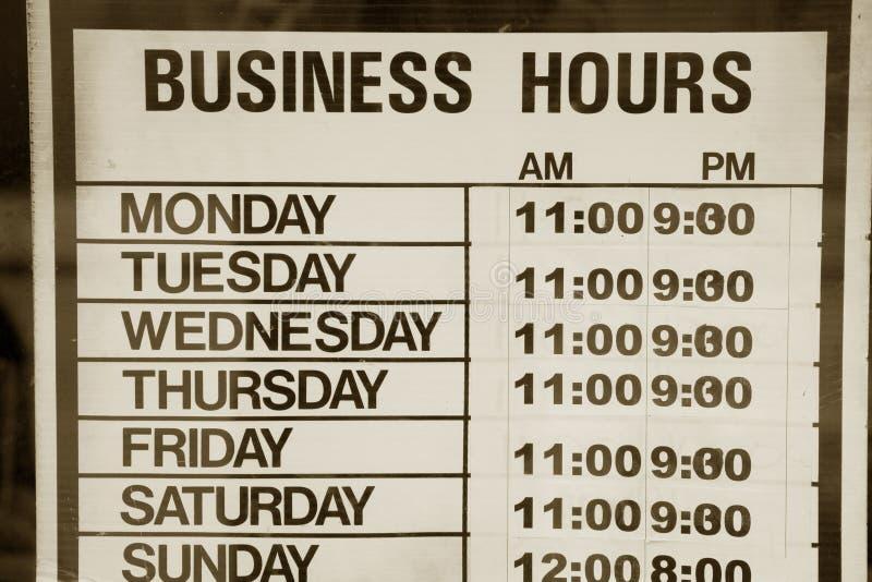 godziny przedsiębiorstw obrazy stock