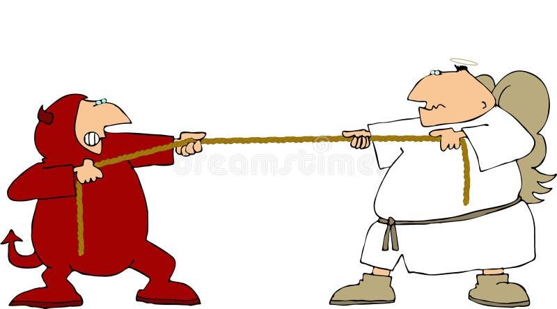 Goed & kwaad stock illustratie