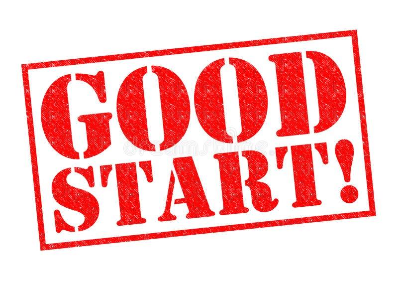 Goed begin! vector illustratie