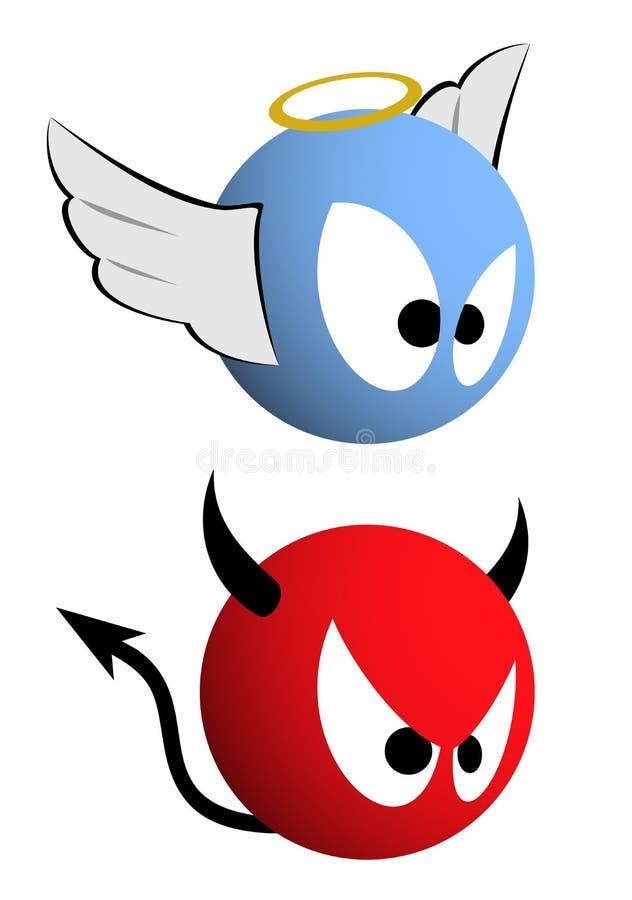 Citaten Goed En Kwaad : Goed en kwaad emoticons vector illustratie