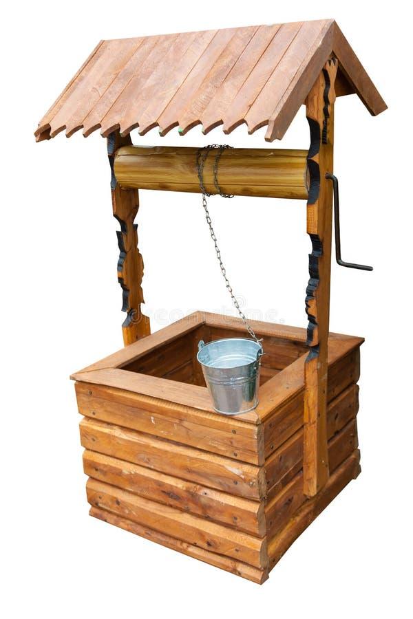 Goed geïsoleerd houten royalty-vrije stock foto