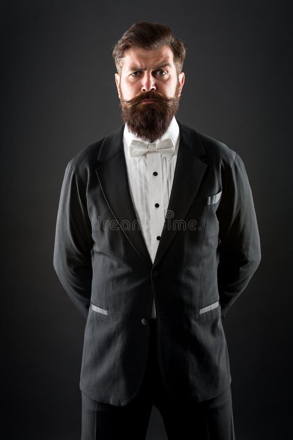 Goed gekleed en scrupuleus keurig Smoking van het Hipster de formele kostuum De officiële code van de gebeurteniskleding Mannelij royalty-vrije stock afbeelding