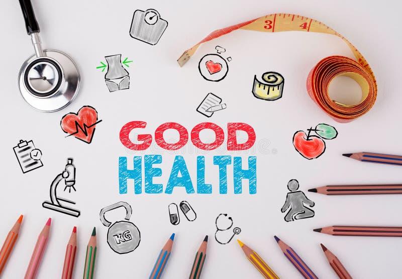 Goed gezondheidsconcept De achtergrond van de Healtylevensstijl royalty-vrije stock fotografie