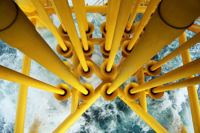 Goed hoofdgroef van grond aan hoofdproductievloer en gecontroleerd door automatiseringslogica voor van het productieolie en gas d royalty-vrije stock foto's