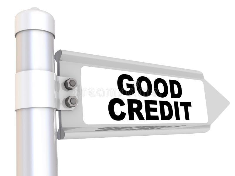 Goed Krediet Manierteken vector illustratie