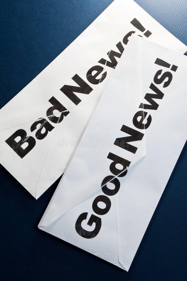 Goed Nieuws en slecht nieuws royalty-vrije stock fotografie