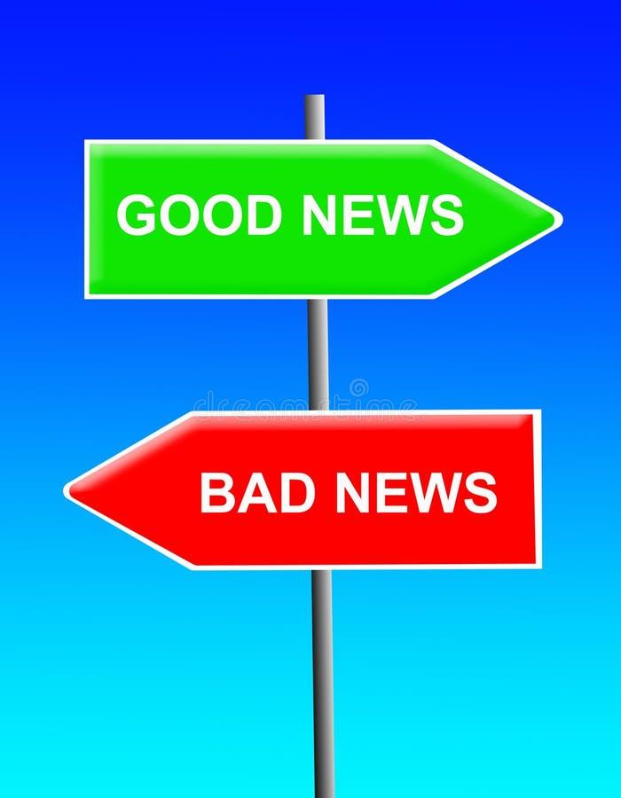 Goed nieuws, slecht nieuws vector illustratie