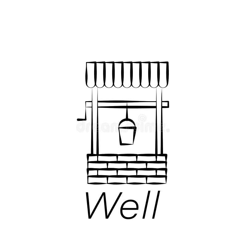 Goed trekt de hand pictogram Element van de landbouw van illustratiepictogrammen De tekens en de symbolen kunnen voor Web, emblee royalty-vrije illustratie