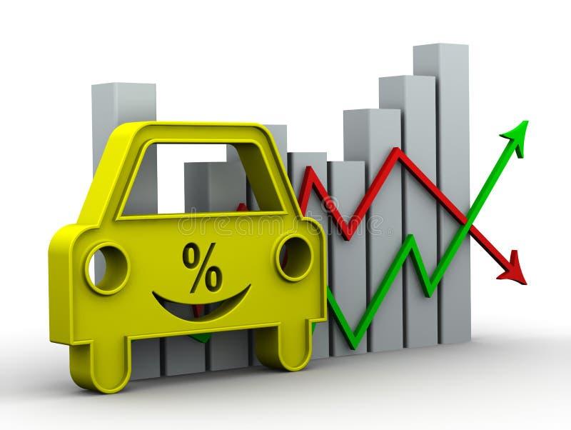 Goede autolening Het concept stock illustratie
