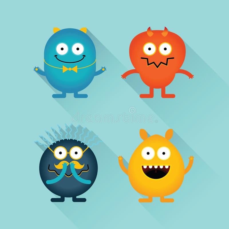 Goede en kwade monsters en karakters vector illustratie