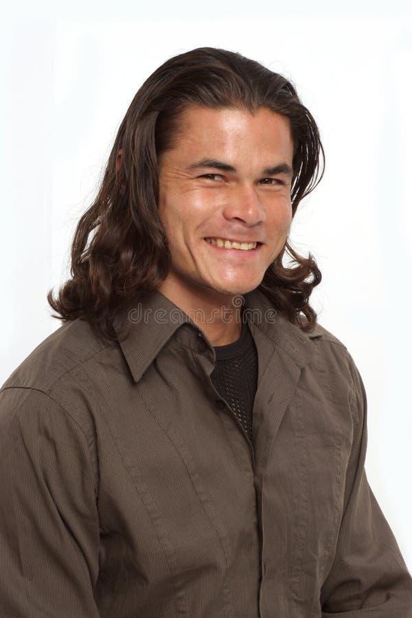 Download Goede glimlach van hem stock foto. Afbeelding bestaande uit bepaald - 281384