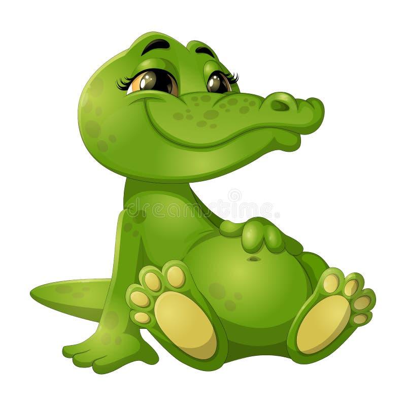 Goede groene krokodil stock foto