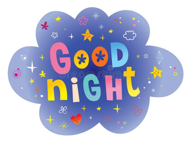 Goede nacht vector illustratie