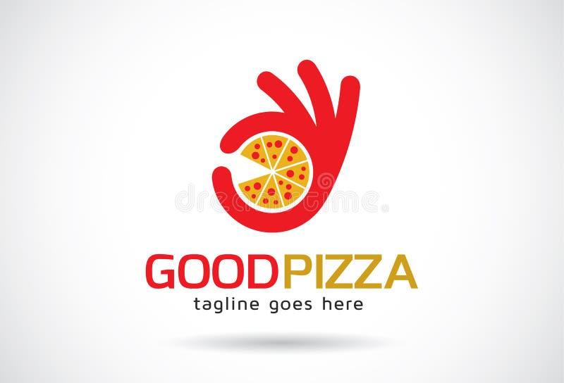 Goede Pizza Logo Template Design Vector, Embleem, Ontwerpconcept, Creatief Symbool, Pictogram vector illustratie