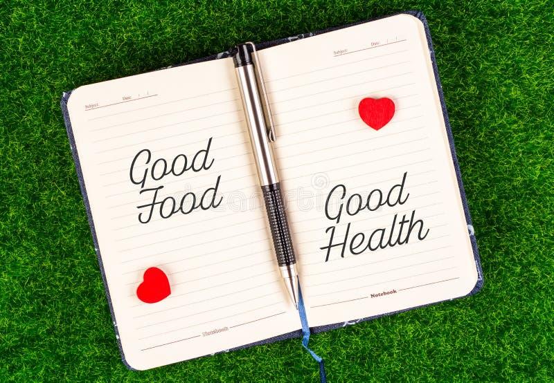 Goede voedsel gelijke goede gezondheid royalty-vrije stock afbeeldingen