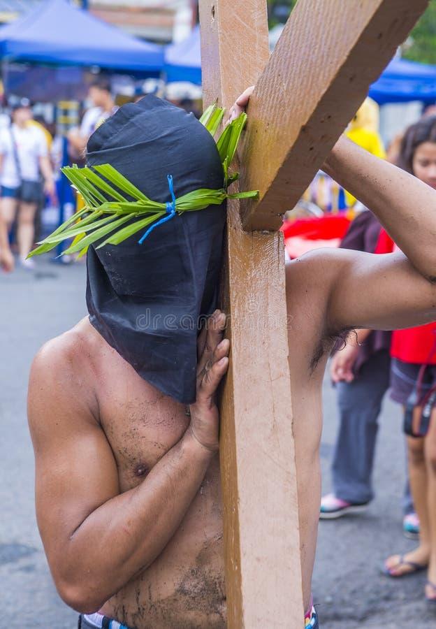 2019 Goede Vrijdag in de Filippijnen stock foto's