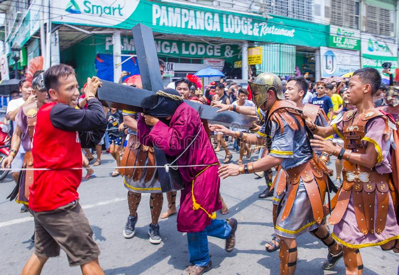 2019 Goede Vrijdag in de Filippijnen royalty-vrije stock foto