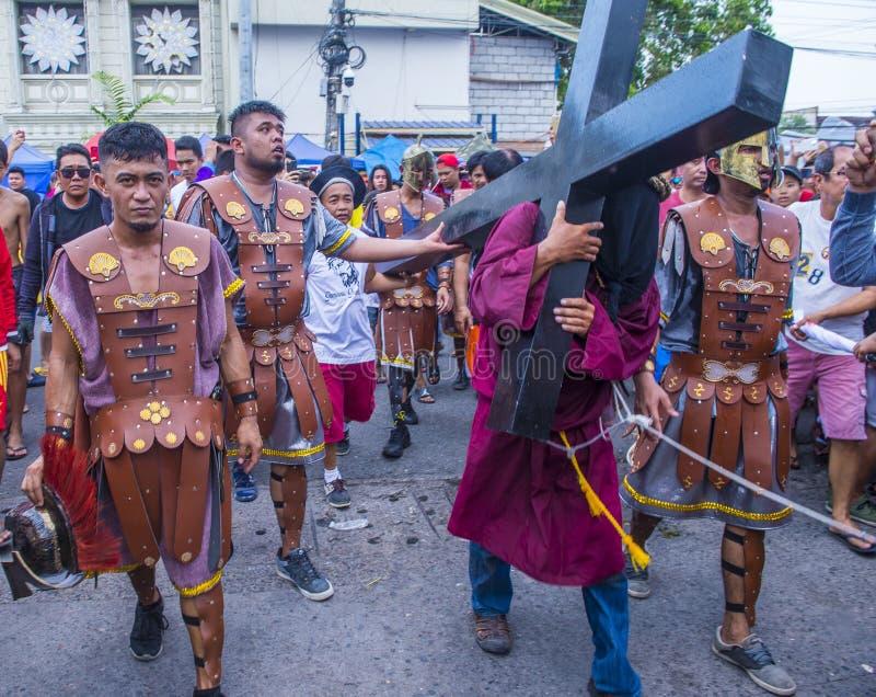 2019 Goede Vrijdag in de Filippijnen stock afbeeldingen