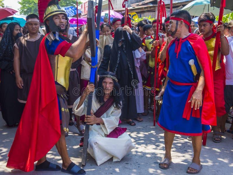 2019 Goede Vrijdag in de Filippijnen stock fotografie