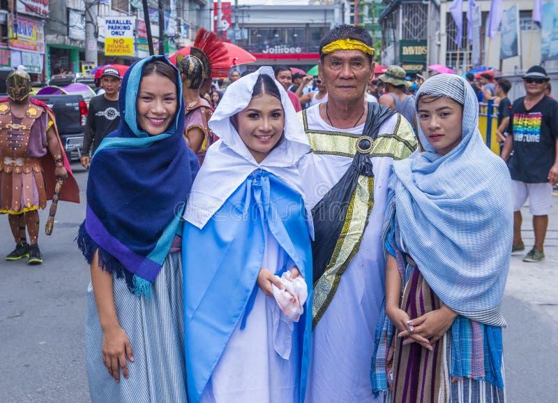 2019 Goede Vrijdag in de Filippijnen royalty-vrije stock foto's