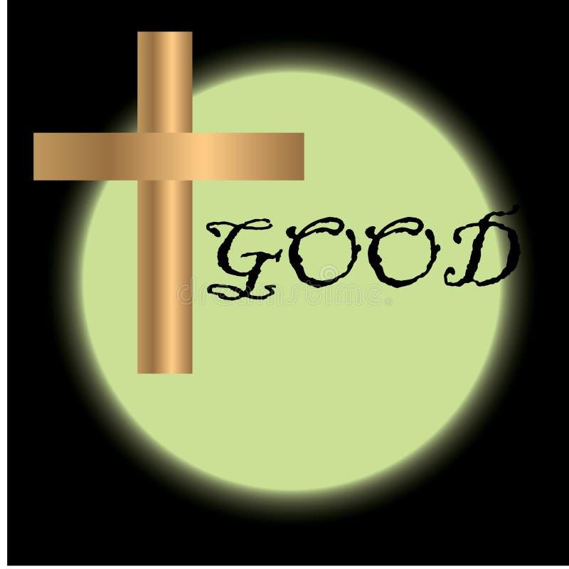 Goede Vrijdagillustratie voor christelijke godsdienstige gelegenheid met kruis Kan voor achtergrond, groeten, banners worden gebr vector illustratie