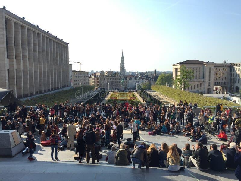 Goedemorgen Brussel stock foto