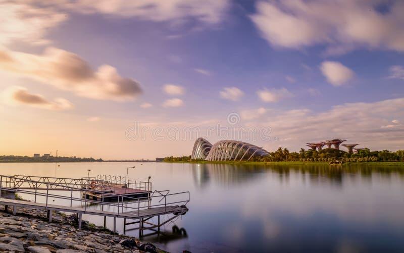 Goedemorgen Marina Bay royalty-vrije stock fotografie