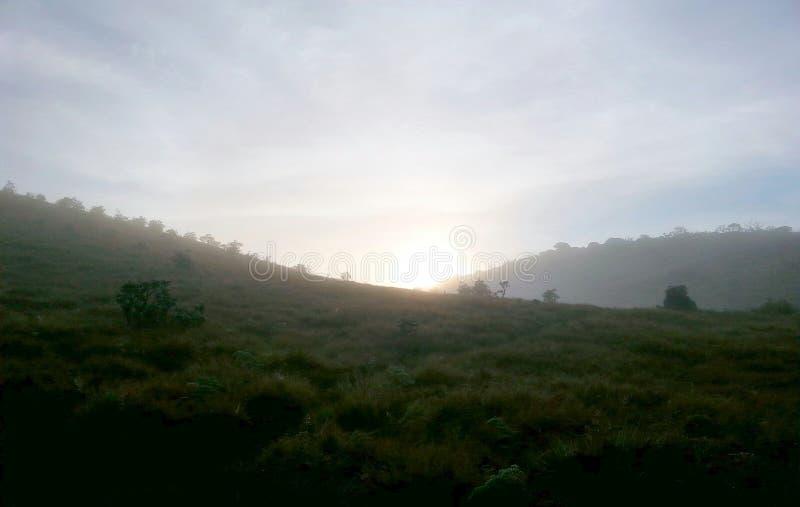 Goedemorgenbergen stock afbeeldingen