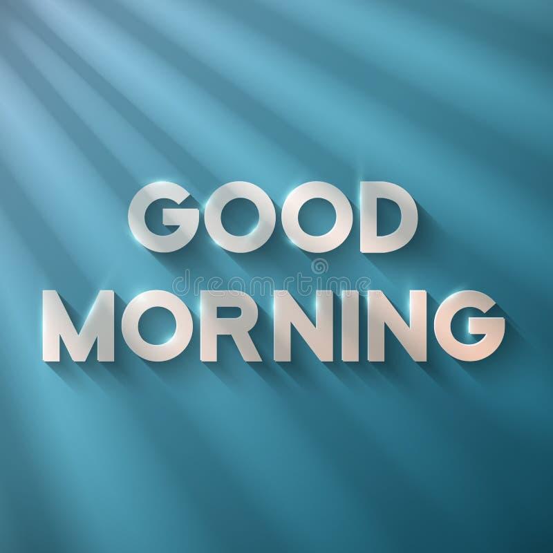 Goedemorgenuitdrukking met Zongloed vector illustratie