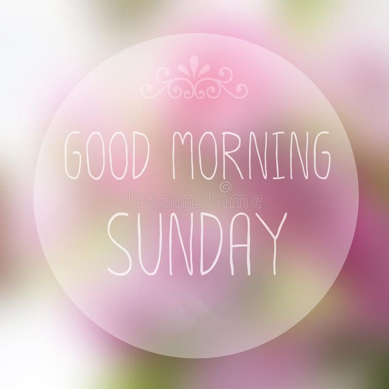 Goedemorgenzondag royalty-vrije stock fotografie