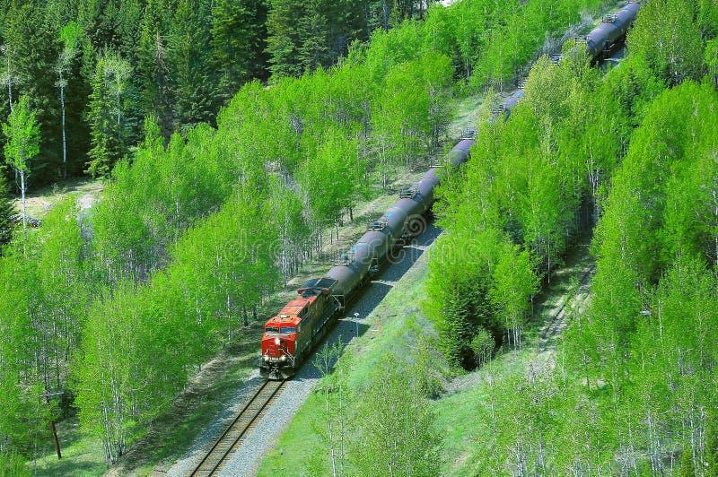 Download Goederentreinbewegingen Door Canadese Rotsachtige Bergen Stock Afbeelding - Afbeelding bestaande uit vloeistof, macht: 114225803
