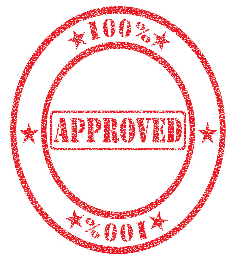 Goedgekeurd honderd percenten royalty-vrije illustratie