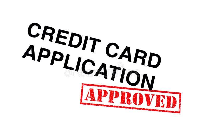 Goedgekeurde Creditcardtoepassing stock afbeelding