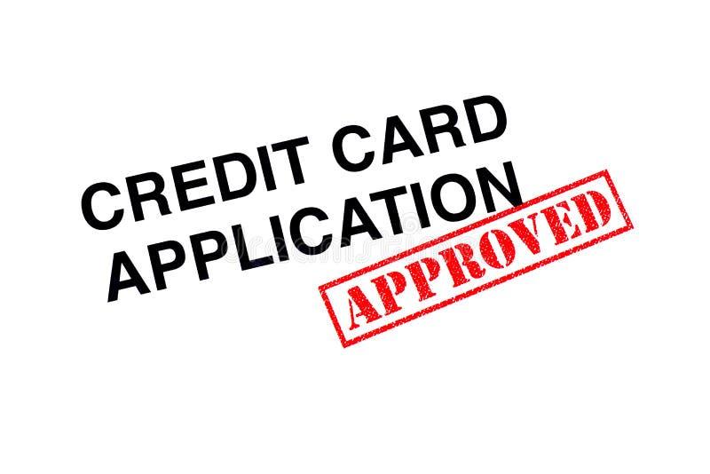 Goedgekeurde Creditcardtoepassing royalty-vrije stock foto