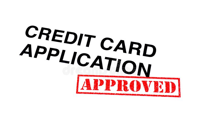 Goedgekeurde Creditcardtoepassing royalty-vrije stock fotografie