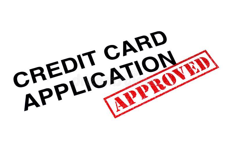 Goedgekeurde Creditcardtoepassing stock afbeeldingen