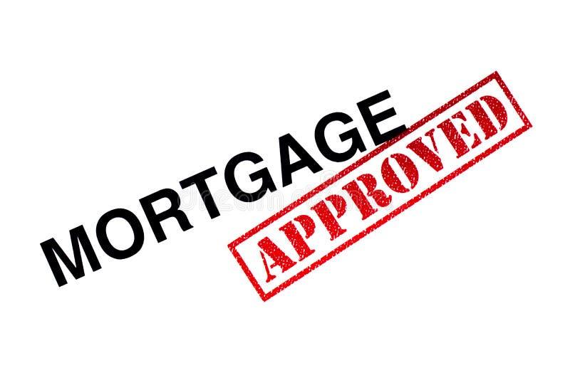 Goedgekeurde hypotheek stock foto