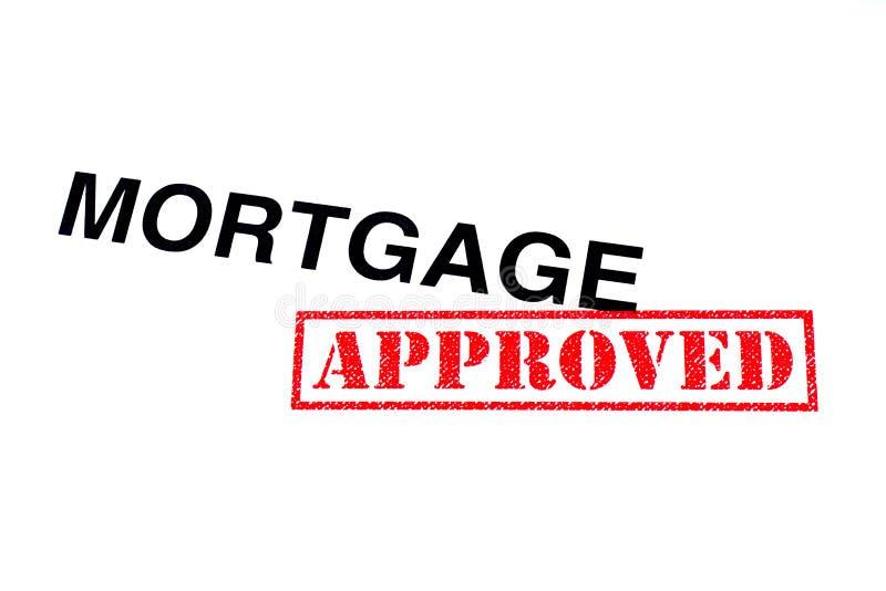 Goedgekeurde hypotheek royalty-vrije stock afbeeldingen