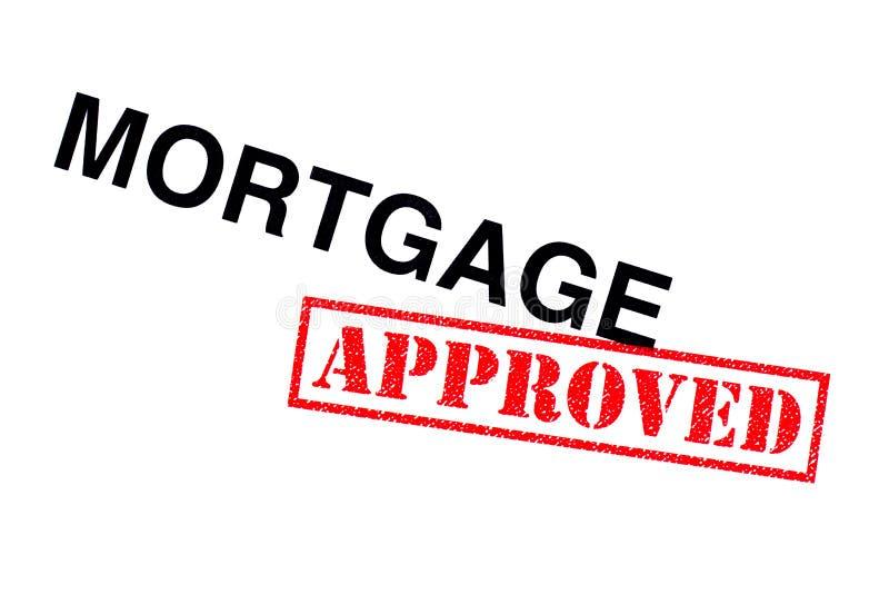 Goedgekeurde hypotheek stock foto's
