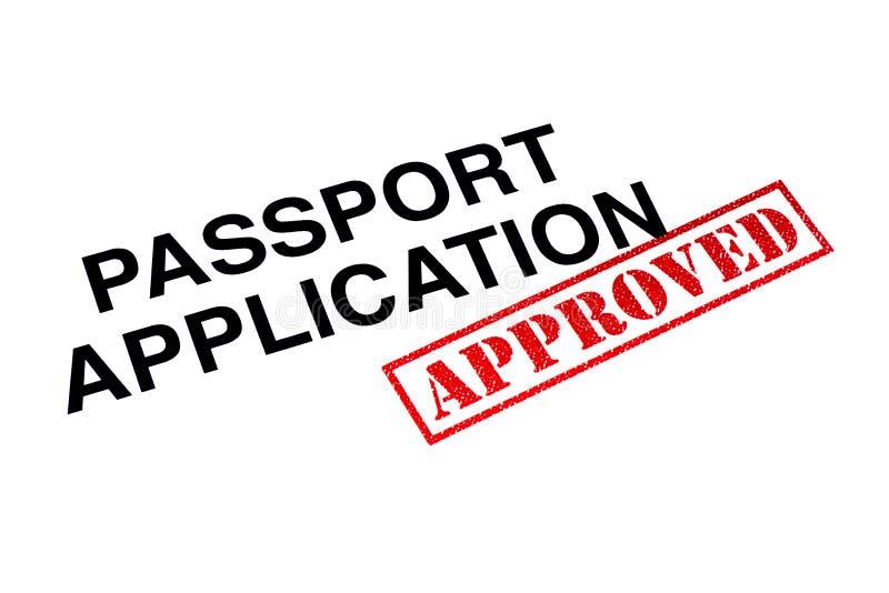 Goedgekeurde paspoorttoepassing royalty-vrije stock foto's