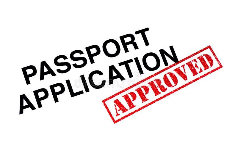 Goedgekeurde paspoorttoepassing royalty-vrije stock foto