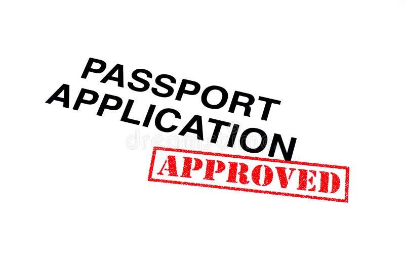 Goedgekeurde paspoorttoepassing royalty-vrije stock fotografie