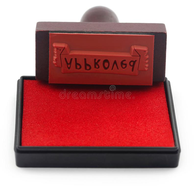 Goedgekeurde rubberstempel stock fotografie